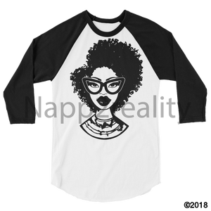 Fashion Fro Blnw 3/4 Sleeve Raglan Shirt White/black / Xs