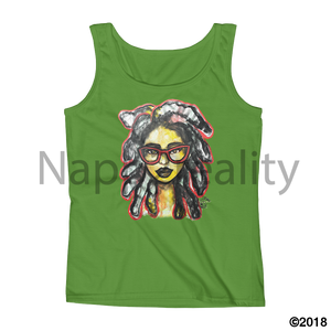 Jamaica Loc Girl Ladies Tank Black / S