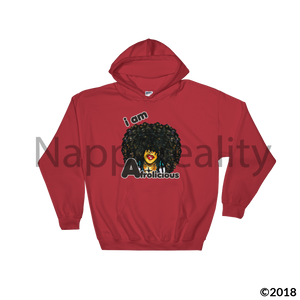 I Am Afrolicious Hooded Sweatshirt Red / S