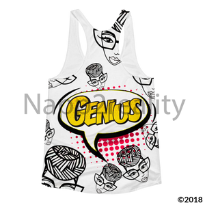 Genius Pop Art Yellow Slim Fit Tank Xs