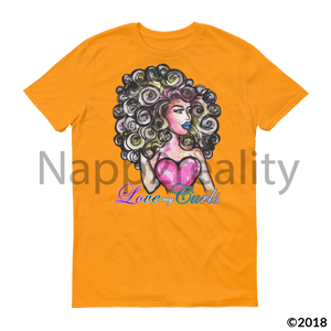 Love My Curls Short Sleeve T-Shirt White / S