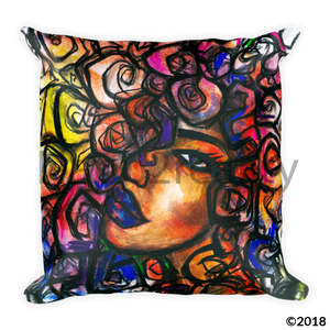 Fusia Curls Pillow