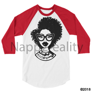 Fashion Fro Blnw 3/4 Sleeve Raglan Shirt White/red / Xs