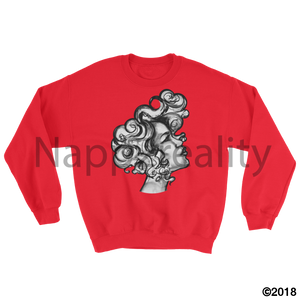 Curls All Over The World Sweatshirt White / S