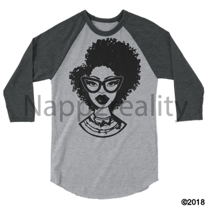 Fashion Fro Blnw 3/4 Sleeve Raglan Shirt Heather Grey/heather Charcoal / Xs