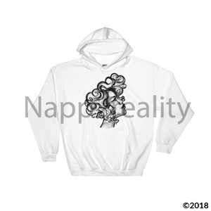 Curls All Over The World Hooded Sweatshirt Black / S