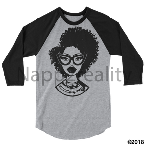 Fashion Fro Blnw 3/4 Sleeve Raglan Shirt Heather Grey/black / Xl