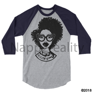 Fashion Fro Blnw 3/4 Sleeve Raglan Shirt Heather Grey/navy / Xs