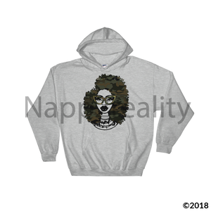 Fashion Fro Army Hooded Sweatshirt Sport Grey / S