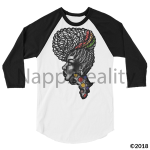 Candy Africa 3/4 Sleeve Raglan Shirt Heather Grey/black / L
