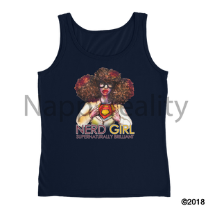 Nerd Girl Ladies Tank Navy / S