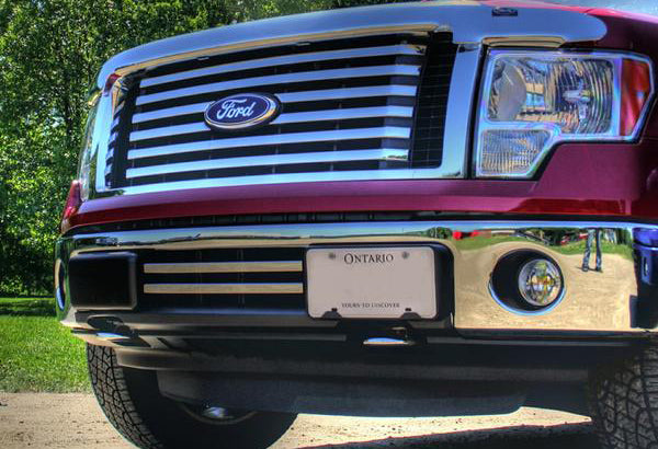 2009-2014 F150 2-Bar Lower Grille / Chrome