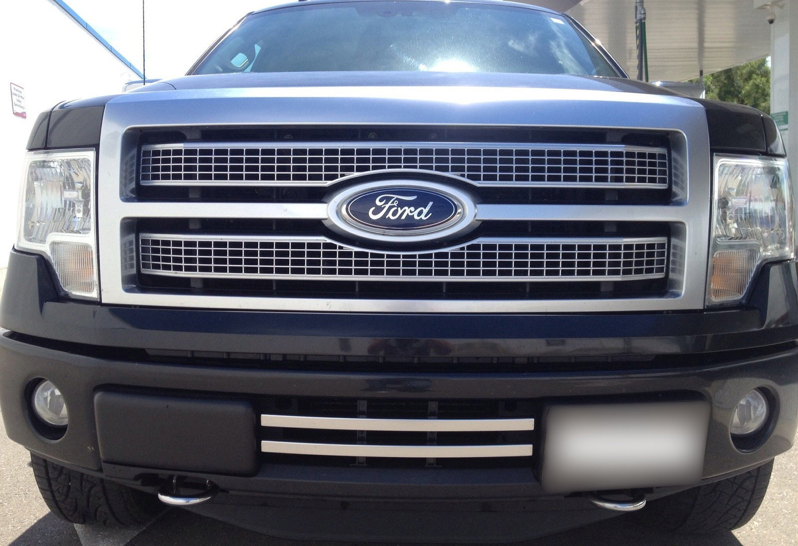 2009-2014 F150 2-Bar Lower Grille / Platinum