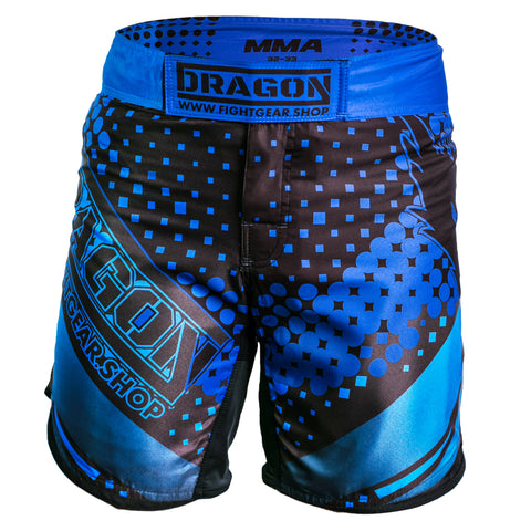 mma shorts polyester lykra mma blueye sports dragon sports