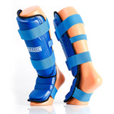 Pro Full shin instep läderliknande blueye sports dragon sports