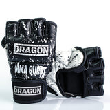 Quest mma handskar läder blueye sports dragon sports
