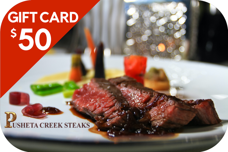 Pusheta Creek Steaks $50 Gift Card