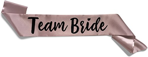 Team Bride Double-Layer Satin Sash - Team Bride, Dusty Pink