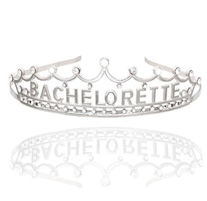 Bachelorette Party Crown with Glittered Rhinestones