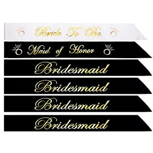 Bachelorette Party Sash 6 Pcs