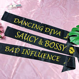 Bachelorette Party Sashes 7 pcs - Bride To Be Sash and 6 Funny Bridesmaid Sashes