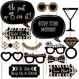 Bachelorette Party Photo Booth Props Kit