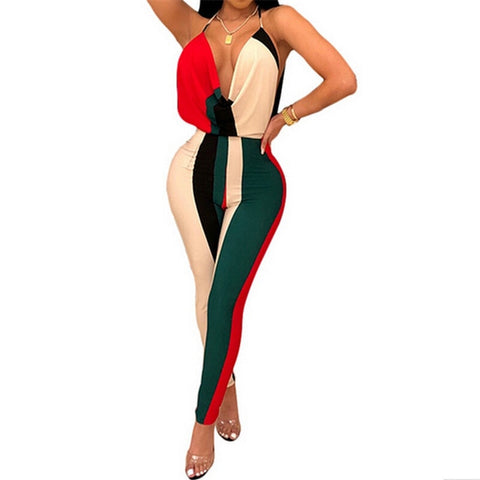 Women Summer Backless Jumpsuit