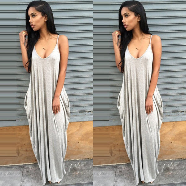 Spaghetti Straps Dress Maxi Dress