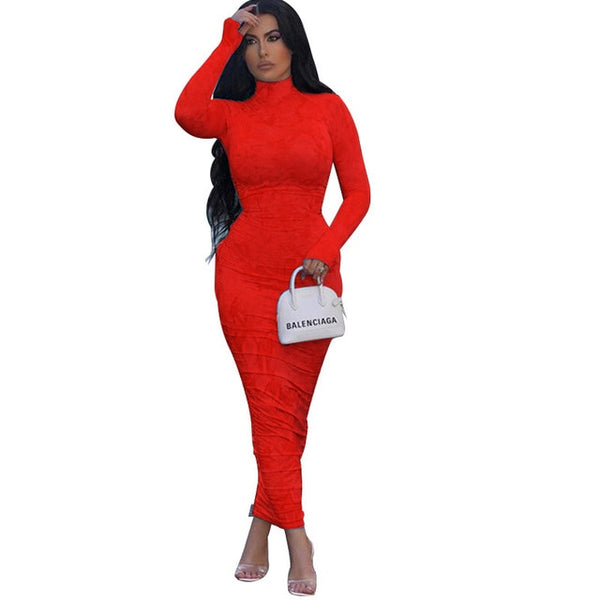 Neon Tube Bodycon Streetwear Club Party Dress