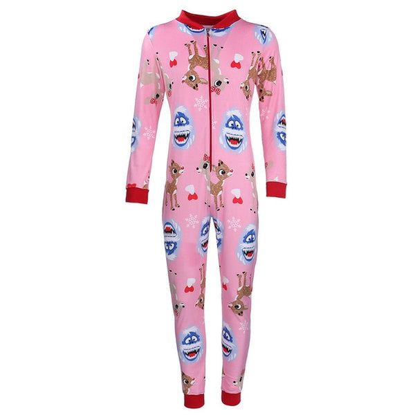 Cartoon Christmas Deer/Snowman Jumpsuit