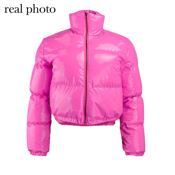 Crop Bubble Puffer Winter Jacket Coats