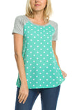 Always Shine Polka Dot Raglan Top