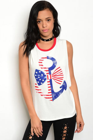Anchored Down South Tank Top