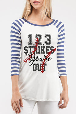 """1,2,3 Strikes You're Out"" Top"