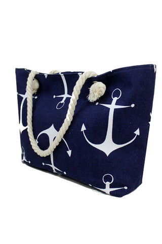 ANCHOR SAILOR ALL OVER PRINTED TOTE BAG