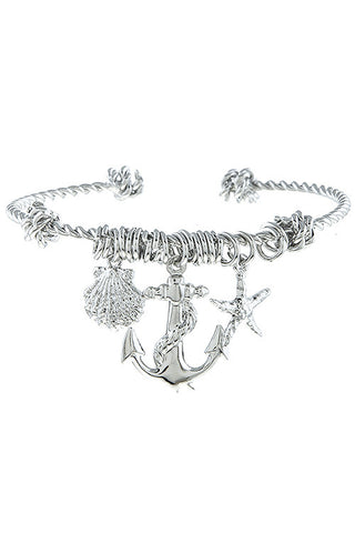 Anchored to the Sea Charm Bracelet