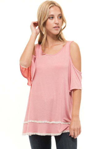 COLD SHOULDER DETAIL SOLID TUNIC