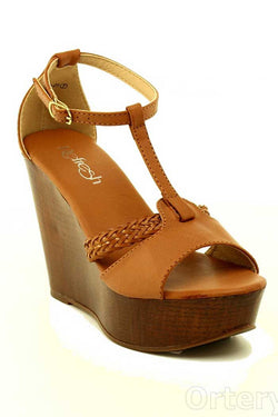 Walk This Way Braided Wedge Shoes