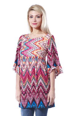 Multi Colored Tunic Top