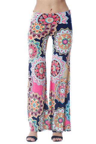 Multi Colored Floral Palazzo Pants