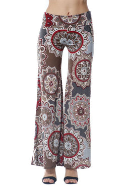 GREY MULTI COLORED PALAZZO PANTS