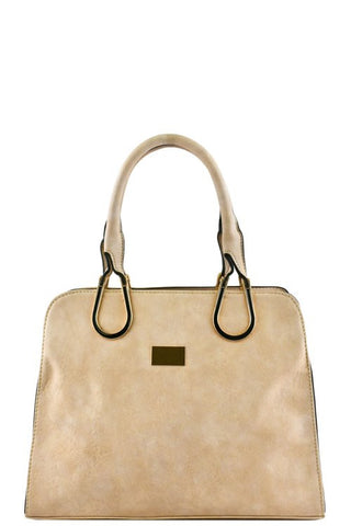 DESIGNER METAL ACCENT TOTE BAG