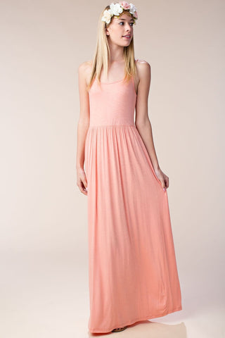 In This Moment Coral Maxi Dress