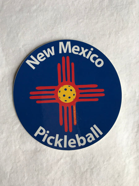 "New Mexico Pickleball 5"" Circle Decal"