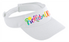 Pickleball Visor in Black or White or Stone