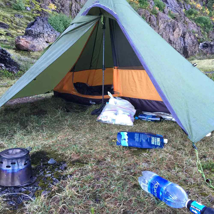Hexpeak Tipi vs Minipeak Pyramid Trekking Pole Tents