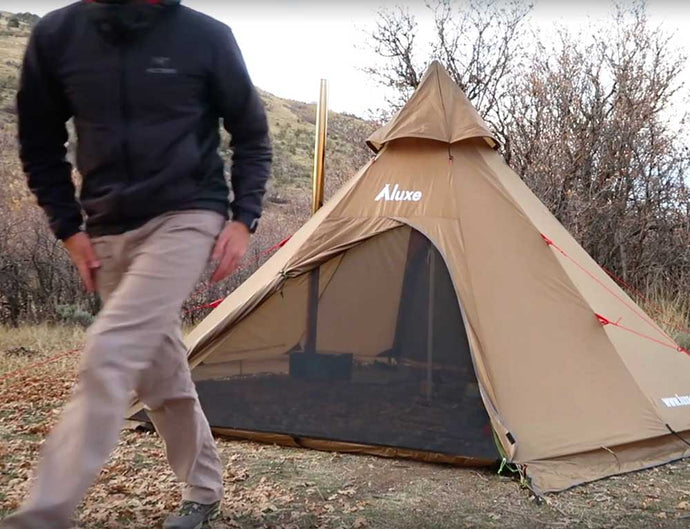 Megahorn Tipi with Stove Jack (User Guide) Video