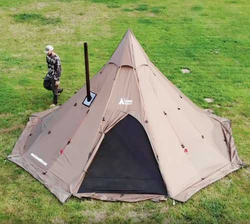 Megahorn XL Tipi (8p) Wood Stove Tent: User Guide Video