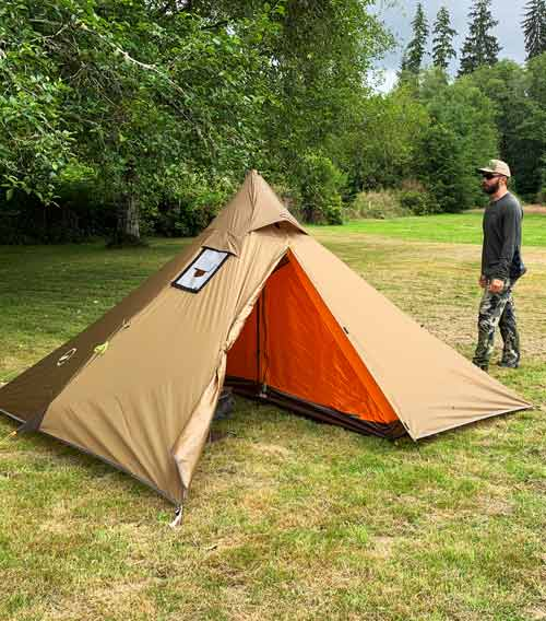 Minipeak XL 3-person Pyramid Wood Stove Tent Quick Look Video
