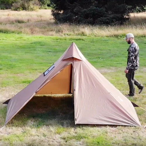 Minipeak XL Pyramid (3p) Wood Stove Tent: User Guide Video